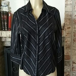 COTTON EXPRESS MISSY Casual Button Down Shirt